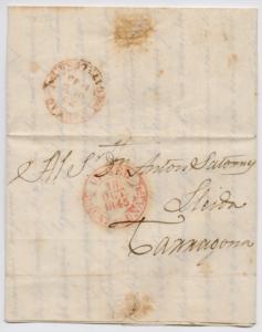 Vorphila Brief von 1845